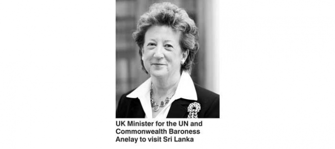 UK Minister for UN and Commonwealth Baroness Anelay to visit Sri Lanka